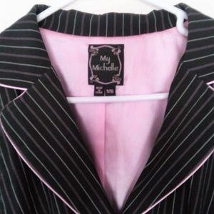 Black w/ Pink Pen Stripe Blazer
